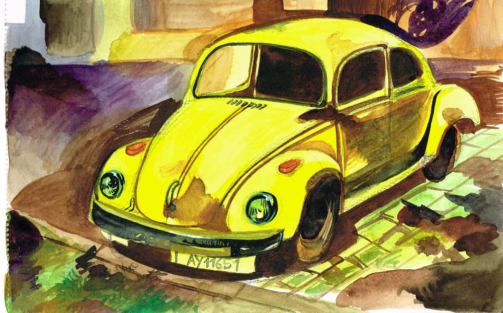 Escarabajo-amarillo